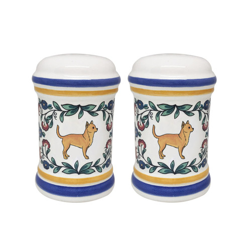 Fawn Chihuahua salt and pepper shaker set handmade by shepherds-grove.com