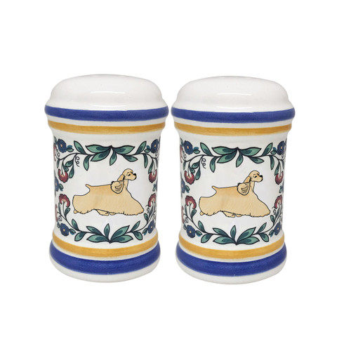 Buff Cocker Spaniel salt and pepper shaker set handmade by shepherds-grove.com