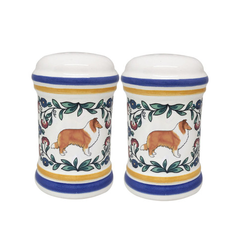 Sable Rough Collie salt and pepper shaker set - handmade by shepherds-grove.com