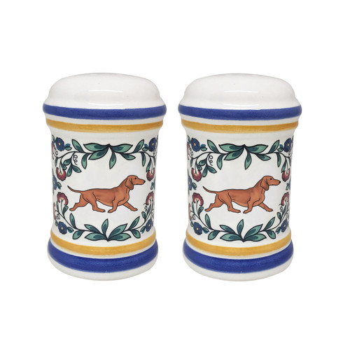 Red Dachshund salt and pepper shaker set - handmade by shepherds-grove.com