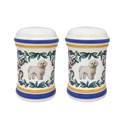 Maltese salt and pepper shaker set - handmade by shepherds-grove.com