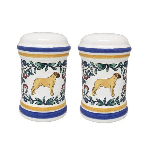 Mastiff salt and pepper shaker set - handmade by shepherds-grove.com