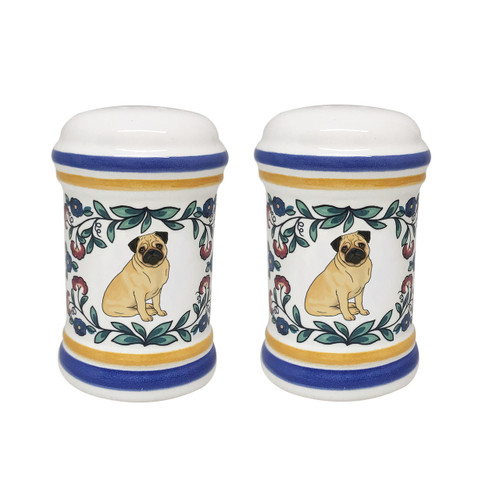 Fawn Pug salt and pepper shaker set - handmade by shepherds-grove.com