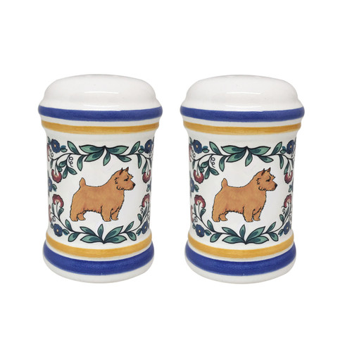 Norwich Terrier salt and pepper shaker set - handmade by shepherds-grove.com