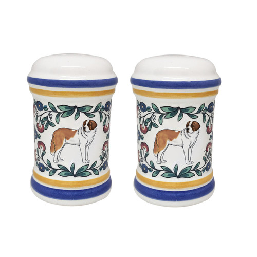 Saint Bernard salt and pepper shaker set - handmade by shepherds-grove.com