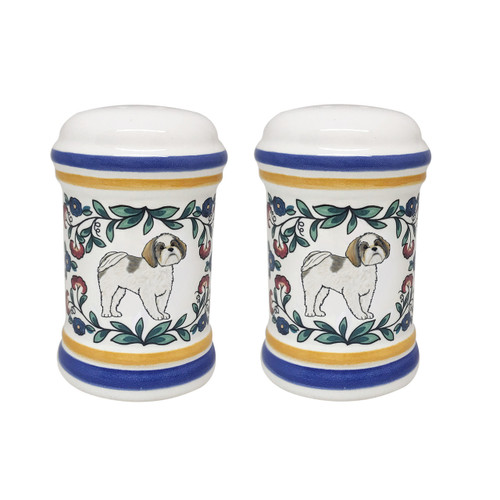 Shih Tzu salt and pepper shaker set - handmade by shepherds-grove.com
