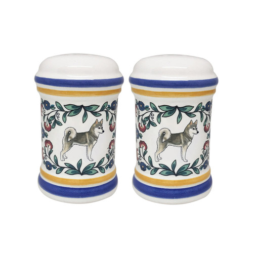 Alaskan Klee Kai salt and pepper shaker set handmade by shepherds-grove.com