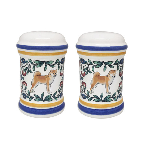 Shiba Inu salt and pepper shakers, handmade by shepherds-grove.com