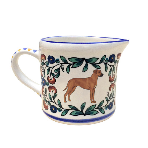 Beautiful Rhodesian Ridgeback creamer, handmade by shepherds-grove.com