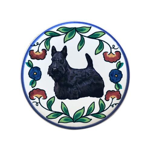 Scottish Terrier wine stopper, handmade by Shepherd's Grove Studio, CA.