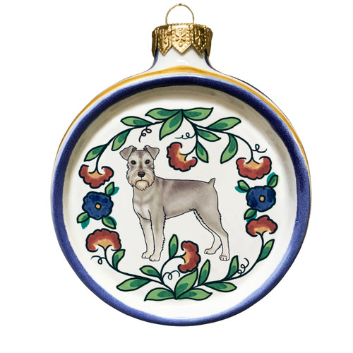 Miniature Schnauzer Christmas ornament by shepherds-grove.com