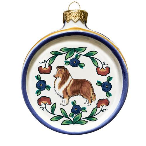 Sable Shetland Sheepdog (Sheltie) Christmas ornament by shepherds-grove.com  ... - Shetland Sheepdog (Sheltie) Dog Lover Christmas Ornament - Handmade