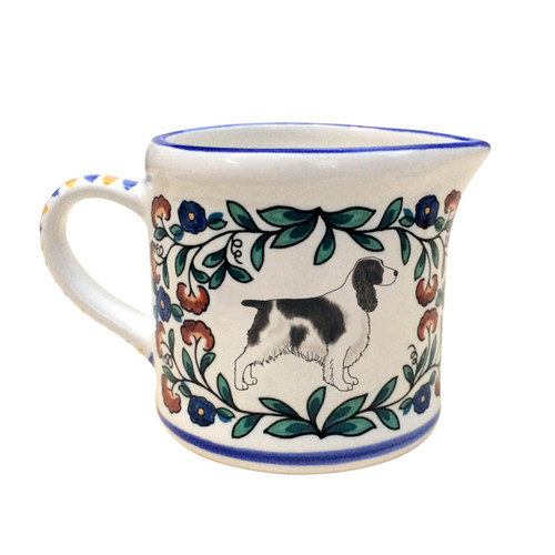 Black and White English Springer Spaniel Christmas creamer from shepherds-grove.com