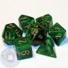 7-piece set of RPG dice - Vortex - Green