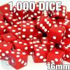 1000 red opaque dice - Bulk gaming dice