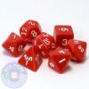 Red D&D dice set