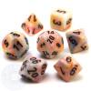 7-piece Festive dice set - D&D dice - Circus