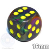 Rio 6-sided dice with yellow spots