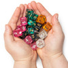 Pack of 25 Random d6 Polyhedral Dice in Multiple Colors