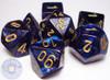 RPG dice set - Royal blue Scarab dice