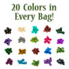 Halfling's Haversack: 140 Mini Polyhedral Dice in 20 Complete Sets