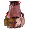 The Dragon's Hoard - 60 Metal Coins in Leather Pouch