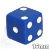 Opaque Dice - 16mm - Blue