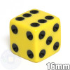 Opaque Dice - 16mm - Yellow