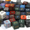 Speckled numeral dice