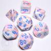 Festive Pop Art dice set - DnD dice