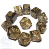 Cauldron Smoke dice set - Black - D&D dice