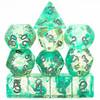 Mystic Pool dice set - Green - D&D dice