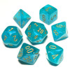 Teal Borealis Luminary dice set - DnD dice