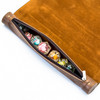 Leather dice mat scroll and dice storage