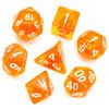 Orange Zest dice set - D&D dice, polyhedrals