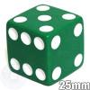 25mm Opaque Green Dice
