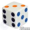 25mm dice - Multicolored spots