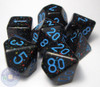 Blue Stars polyhedral dice set