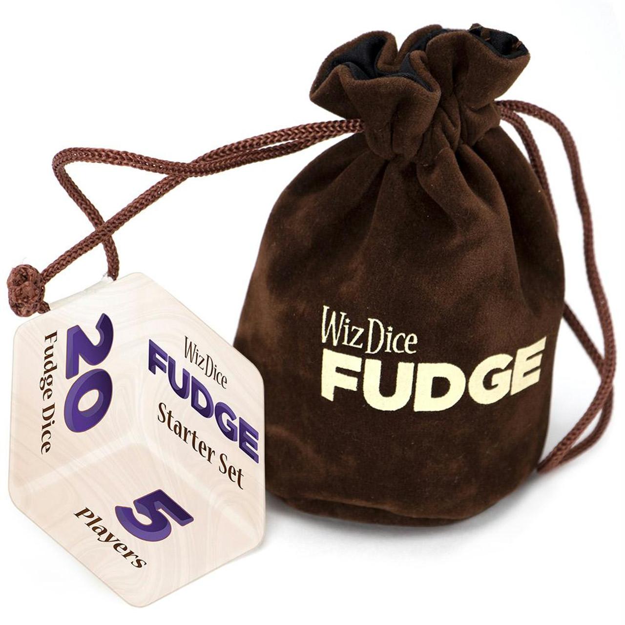 New Wiz Dice 4 Piece Fudge Dice Set Lucid Dreams With Dice Bag RPG 4DF