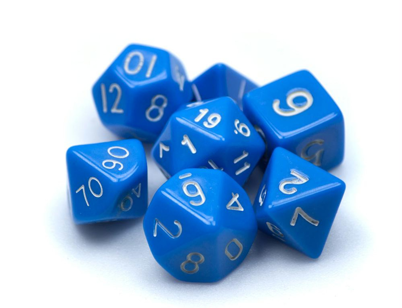 16mm Opaque Koplow Dice Pack of 10 Tens D10 Blue with White Numbers 00-90