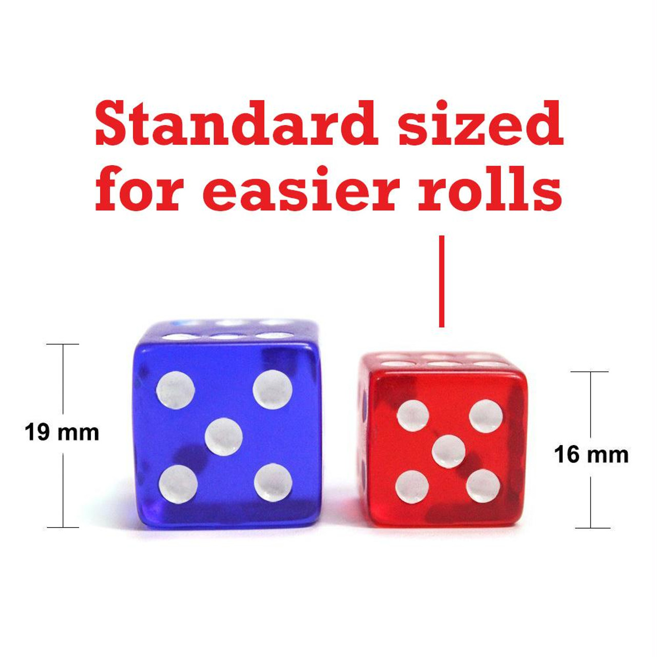Set of 100 Orange Translucent 16mm 6-Sided d6 Dice for Casino Table Board Games