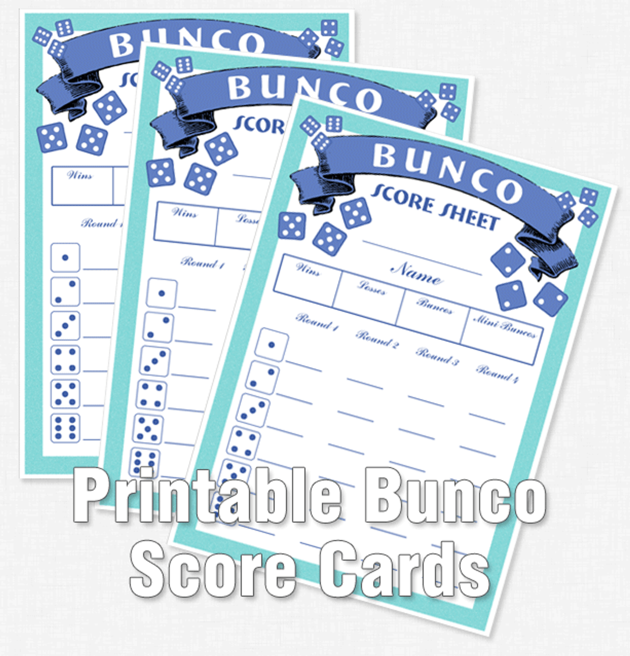 photo regarding Bunco Tally Sheets Printable titled Printable Bunco Rating Playing cards