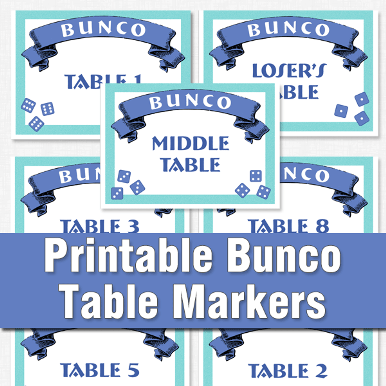image about Printable Z Tables named Printable Bunco Desk Markers