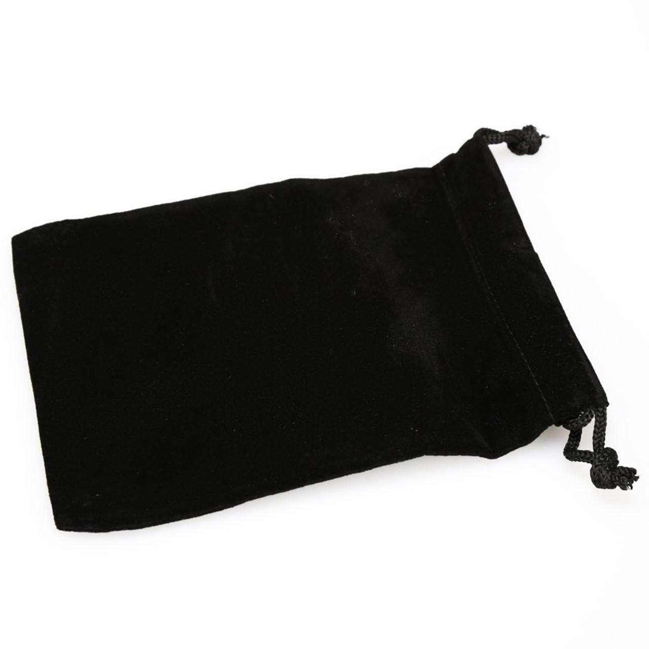5 16mm Dice Standard Transparent Square Cornered with Black Velvet Cloth Pouch Bag Set of