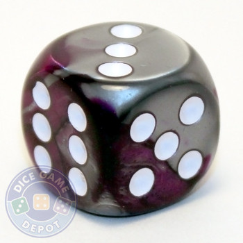 Gemini d6 dice - Purple and steel