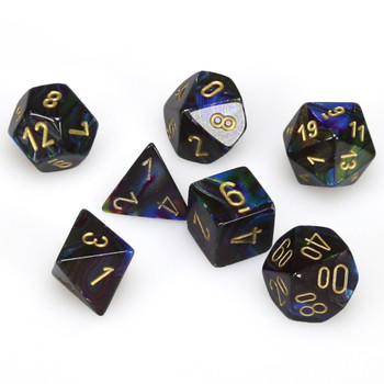 D&D dice - 7-Piece Polyhedral Dice Set - Lustrous Shadow