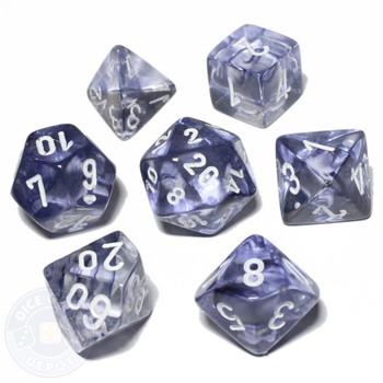 Nebula dice set - Black - D&D dice