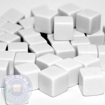 Blank green dice - 16mm - Set of 1000
