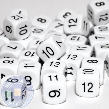 Math dice set of 200 - Seven through twelve