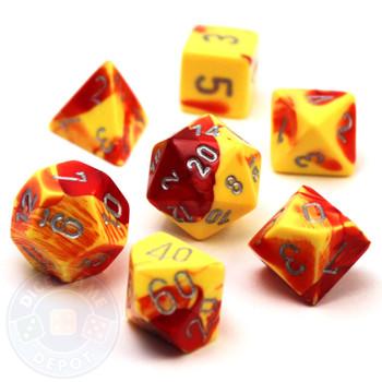 7-piece polyhedral Gemini dice set - D&D dice
